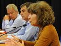 Directora de Instituto Nacional de las Mujeres, Mariella Mazzotti, dirigiéndose a los presentes