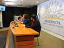 Coordinador General de la Oficina de Planeamiento y Presupuesto, Pablo Álvarez, haciendo uso de la palabra