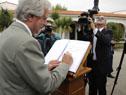 Ministro de Defensa, Jorge Menéndez recibe al Presidente Tabaré Vázquez