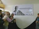 Descubrimiento de mural con la foto de José D'Elía
