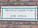 Acto de reconocimiento a José D'Elía, en el que se le dio su nombre a la escuela especial n.° 380