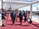 Llegada del ministro Danilo Astori a la reunión del Consejo del Mercado Común