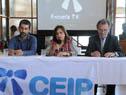 Pablo Caggiani, Irupé Buzzetti y Héctor Florit