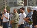 Juan Andrés Roballo, Fernando Traversa, del Sinae, Diego Olivera, de la JND, y Fernando Longo, de la Unasev