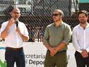 Juan Andrés Roballo, Fernando Traversa, del Sinae, y Diego Olivera, de la JND