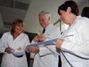 Autoridades en la inauguración de las nuevas instalaciones del hospital Pasteur