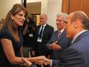 Princesa de Jordania, Dina Mired, es recibida por el presidente Tabaré Vázquez y el intendente de Montevideo, Daniel Martínez