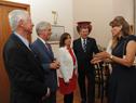 Presidente Tabaré Vázquez juntio a princesa de Jordania, Dina Mired, canciller Rodolfo Nin Novoa y ministro Jorge Basso