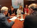 Presidente Vázquez, en reunión con princesa jordana, Dina Mired