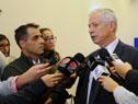 Ministro Jorge Basso en declaraciones a la prensa