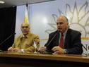 El presidente de Cámara de Industrias, Gabriel Murara, y vicepresidente de la Cámara de Comercio y Servicios, Daniel Sapelli
