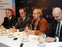 Ministra de Turismo, Liliam Kechichian, dirigiéndose a los presentes