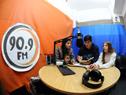 Alumnos del liceo n.° 1 de San Carlos que llevan adelante el proyecto de radio educativa