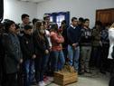 Acto de donación de equipos de riego por goteo donados por Israel