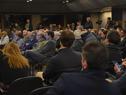 Ministra de Industria, Energía y Minería, Carolina Cosse, dirigiéndose a los presentes