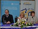 Presidente de Inacoop, Gustavo Bernini, haciendo uso de la palabra