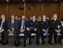 Autoridades presentes en la conferencia realizada en el Centro de Convenciones de Punta del Este