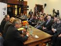 Director de la Oficina Nacional de Servicio Civil, Alberto Scavarelli, dirigiéndose a los presentes
