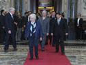 Llegada del presidente Tabaré Vázquez al Palacio Legislativo acompañado de la vicepresidenta Lucia Topolansky