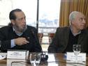 Presidente de ANP, Alberto Díaz, junto al ministro de Transporte, Víctor Rossi