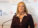 Ministra de Industria, Energía y Minería, Carolina Cosse, haciendo uso de la palabra