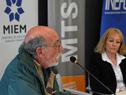 Consejero de la Universidad Tecnológica (UTEC), Rodolfo Silveira, haciendo uso de la palabra
