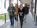 Ministra Carolina Cosse, junto a autoridades, durtante la recorrida por las instalaciones de la Universidad Tecnológica (UTEC) en Durazno