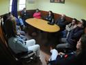 Reunión de autoridades de ASSE encabezadas por Marcos Carámbula, con funcionarios del Hospital de Rocha