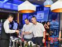 Antonio Carámbula y Nin Novoa en la apertura de la exposición Smart China, en Chongqing