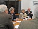 Presidente Vázquez junto al ministro Rossi dialogan con delegación de ex trabajadores papeleros y textiles de Juan Lacaze