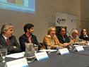 Ministra de Educación y Cultura, María Julia Muñoz, dirigiéndose a los presentes