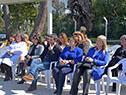 Autoridades presentes en la inauguración del jardín de infantes n.° 305, de Neptunia