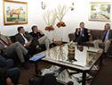 Canciller Rodolfo Nin Novoa reunido con dirigentes de la Asociación Rural