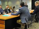 Secretario Nacional del Deporte, Fernando Cáceres, haciendo uso de la palabra