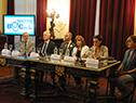 Raúl Rivas, Jorge Basso, Juan Andrés Roballo, Irupé Buzzetti, Laura Miller y Analice Beron, en el lanzamiento de la 13.ª Semana de la Salud Bucal