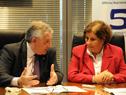 Alberto Scavarelli y Alex Mazzei, en firma de convenio