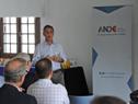 Presidente de la ANDE, Martín Dibarboure, haciendo uso de la palabra