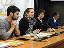 Federico Barreto, Laura Narbalte y Marina Arismendi