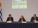 Álvaro García, Carolina Cosse y Pablo Ferreri, en la presentación del programa Compra Pública Innovadora