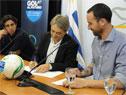 Firma de acuerdo entre la Secretaría del Deporte y la Mutual de Futbolistas Profesionales