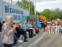 Vicepresidenta Lucía Topolansky, haciendo uso de la palabra, durante el acto de entrega de viviendas