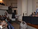 Director de Políticas Sociales del Mides, Matías Rodríguez, haciendo uso de la palabra