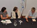 """Mesa de autoridades participantes del ciclo de diálogo """"Razones para convivir: la hospitalidad como punto de partida"""""""