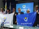 Autoridades nacionales y departamentales en el lanzamiento de Abrazo del Solís Grande