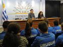 Coordinador de Programas Especiales de la Secretaría Nacional del Deporte, Pablo Hernández, haciendo uso de la palabra