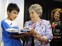 María Auxiliadora Delgado entrega el Pabellón Nacional