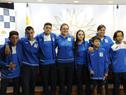 Deportistas y técnicos integrantes de la delegación que participará del Mundial de Tenis de Olimpíadas Especiales en Santo Domingo