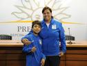 Integrantes de la delegación que participará del Mundial de Tenis de Olimpíadas Especiales en Santo Domingo