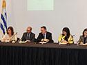Juan Andrés Roballo y July Zabaleta en conferencia sobre esclavitud moderna