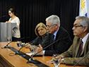 Enzo Benech, Jorge Basso y Eneida de León